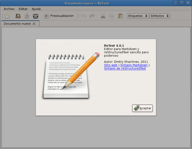 ReText – Editor Markdown en GNU/Linux