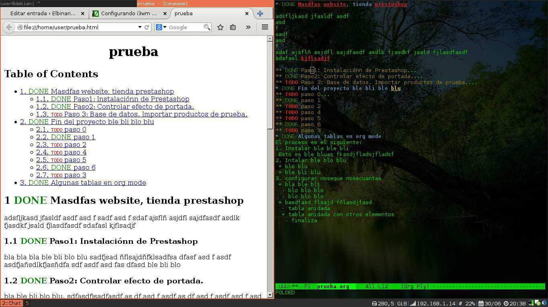 Emacs + i3wm