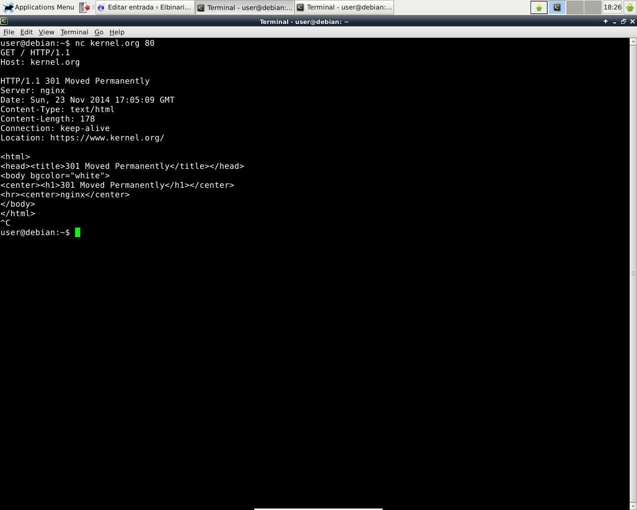 Ejemplo de HTTP