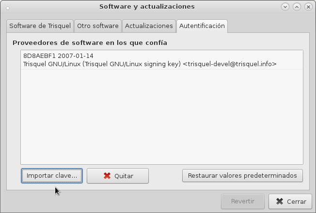 Importar-Software y actualizaciones