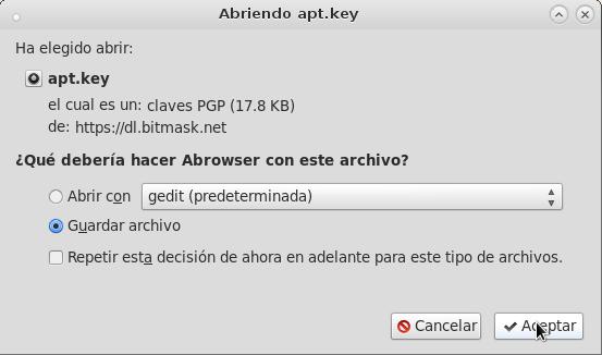 descargando apt.key